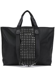 Versace logo stud-embellished tote bag