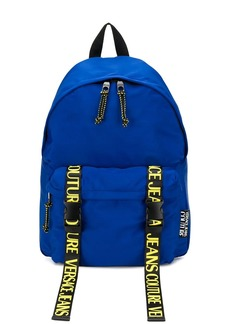 Versace logo-tape backpack