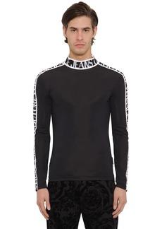 Versace Logo Tape Techno Sweater