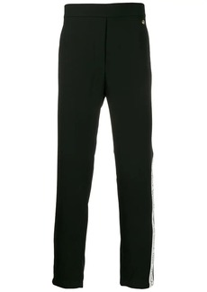 Versace logo tape trousers