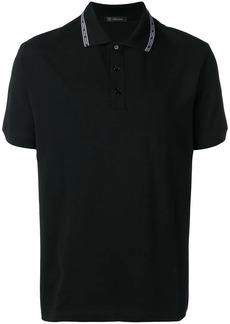 Versace logo trim polo shirt