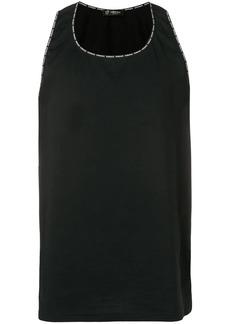 Versace logo trim vest
