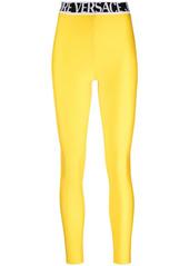 Versace logo-waistband leggings
