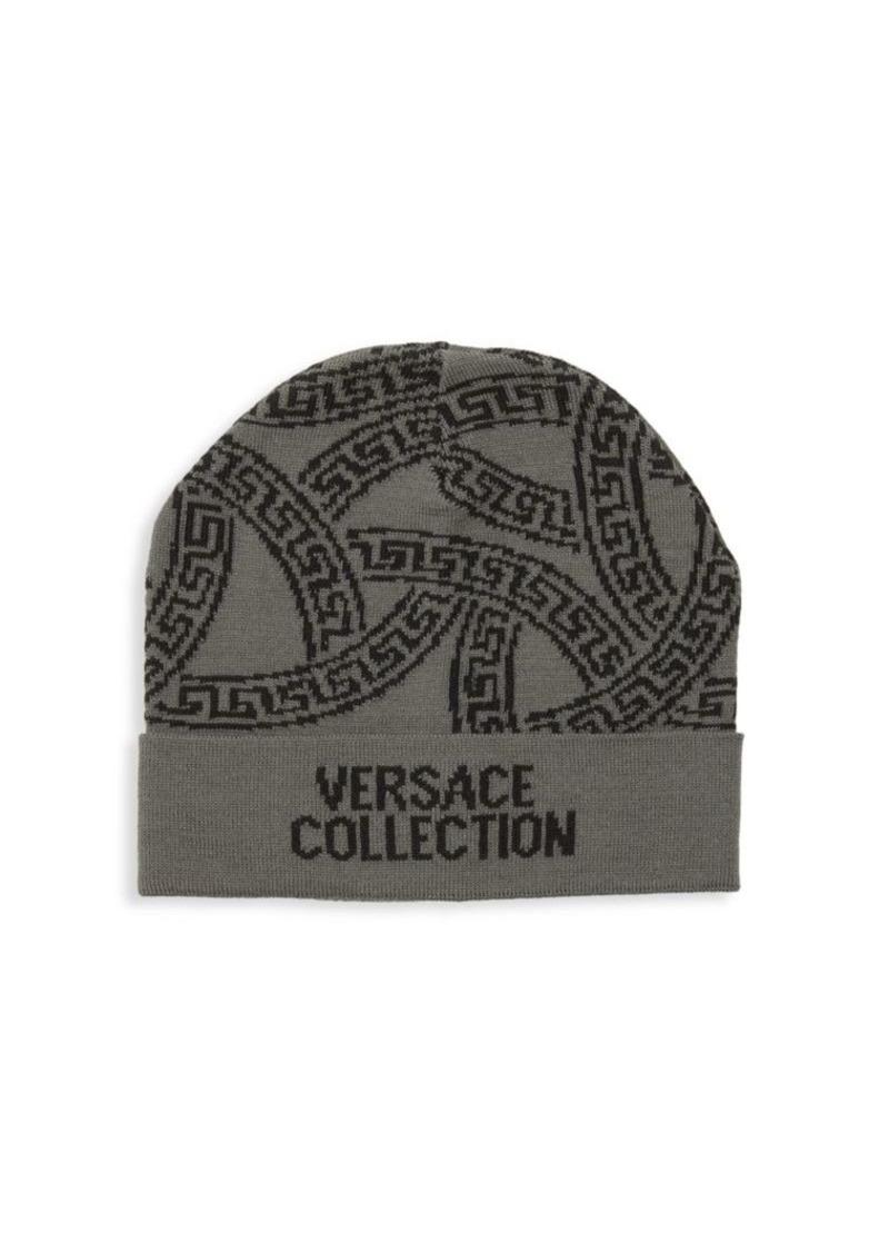 Versace Logo Wool-Blend Beanie