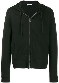 Versace logo zipped hoodie