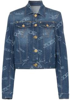 Versace Logomania print denim jacket