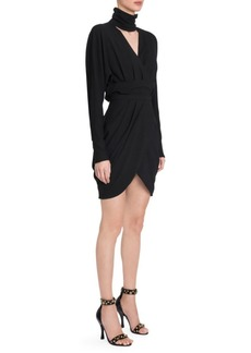 Versace Long Sleeve Bodycon Wrap Dress