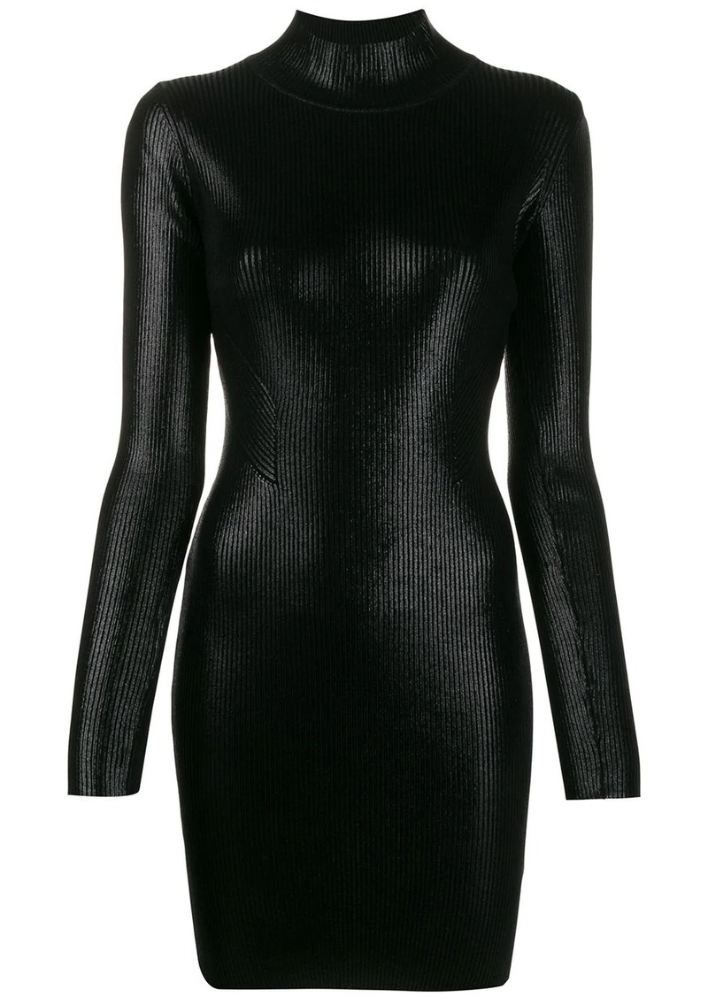 Versace long-sleeve fitted dress