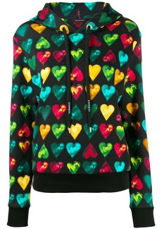 Love Versace print hooded sweater