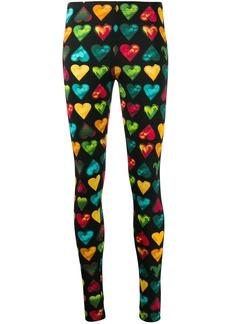 Love Versace print leggings