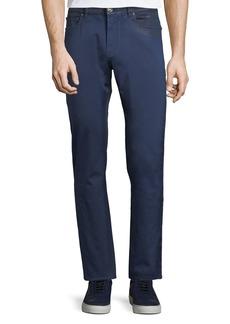 Versace Luster-Finish Straight-Leg Pants