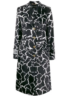 Versace marble effect printed coat