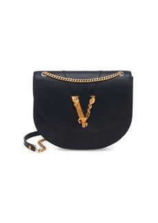 Versace Medium Virtus Leather Crossbody Bag