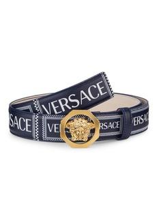 Versace Medusa Buckle Logo Leather Belt