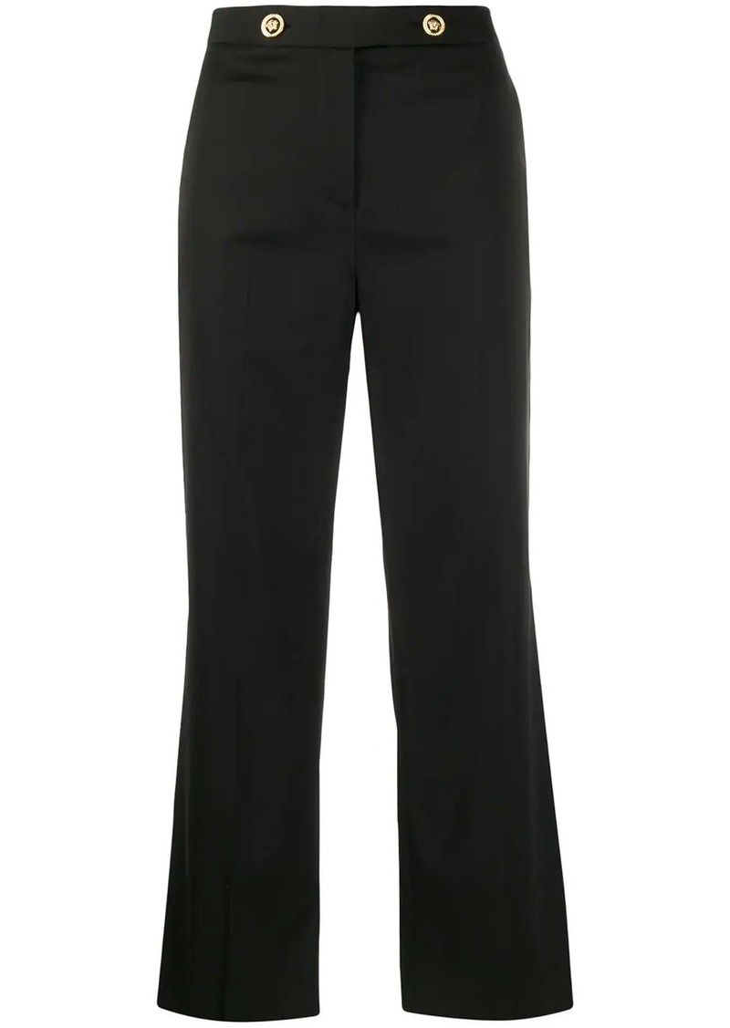 Versace Medusa button cropped trousers