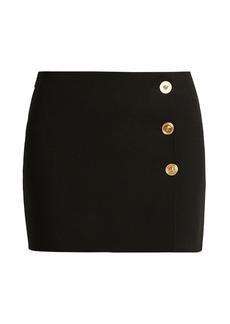 Versace Medusa Button Mini Skirt