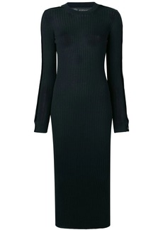 Versace medusa buttoned ribbed dress