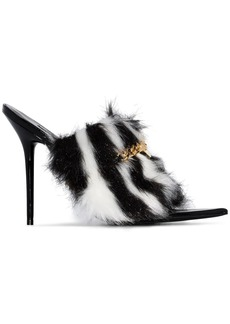 Versace Medusa chain faux-fur 110mm sandals