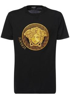 Versace Medusa Cotton Crewneck T-shirt