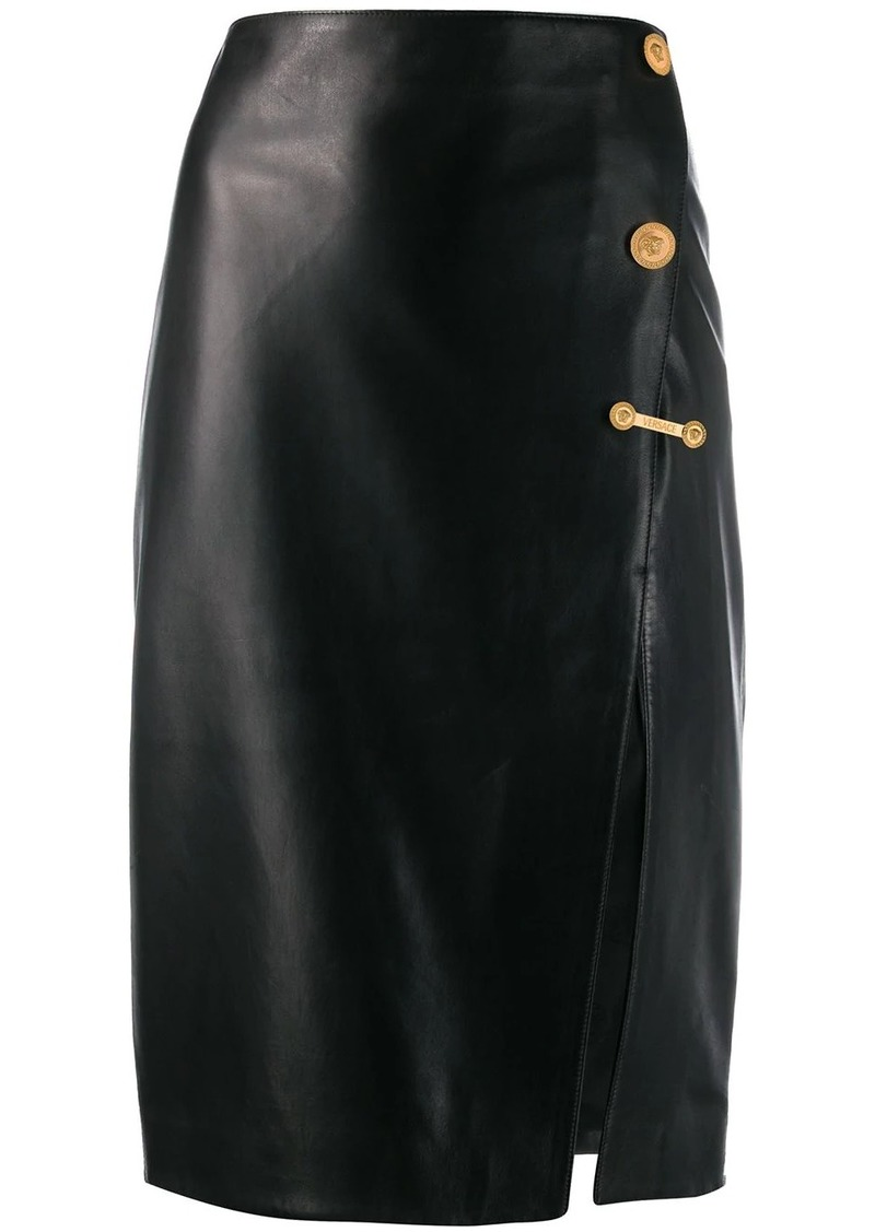 Versace Medusa details midi skirt