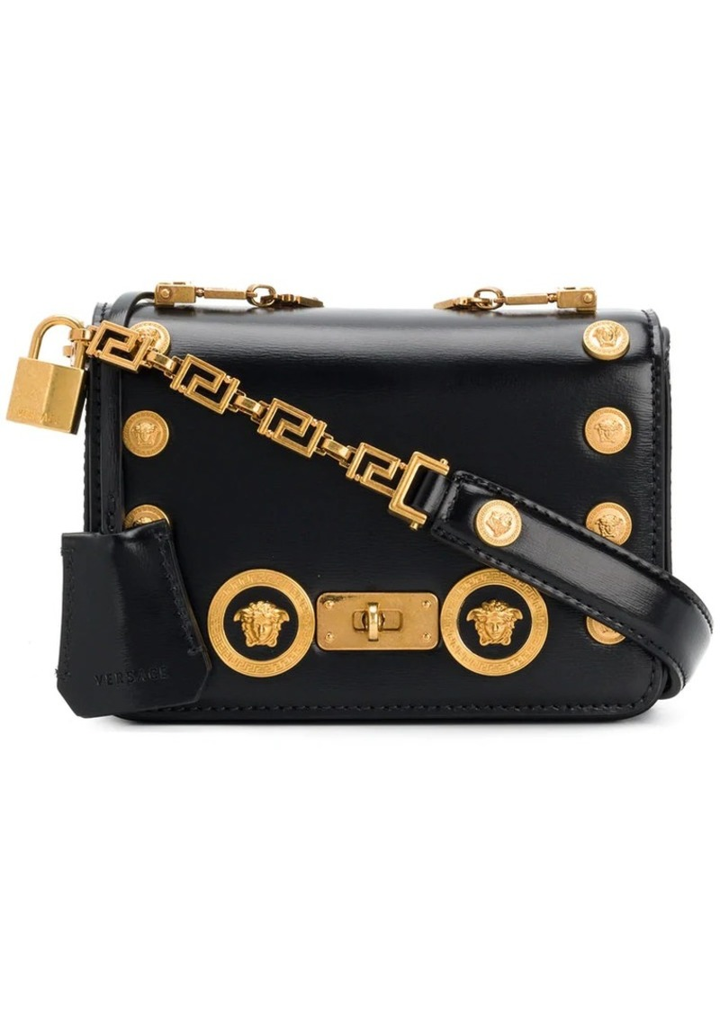 946404a8a611 Versace Medusa embellished shoulder bag