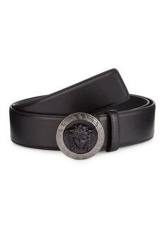 Versace Medusa Embossed Leather Belt