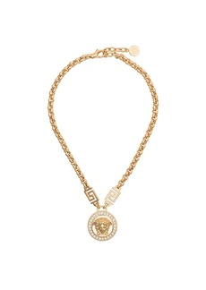 Versace Medusa head crystal necklace