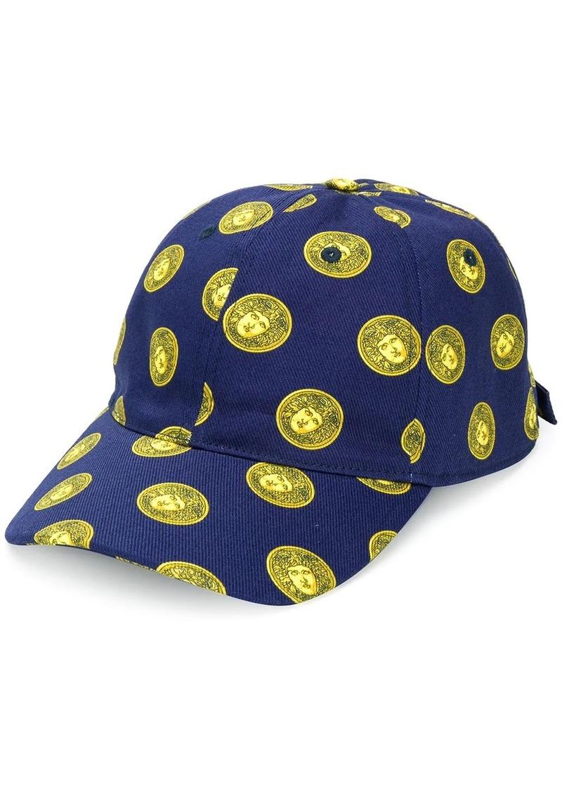 Versace Medusa head print cap