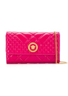 Versace Medusa head quilted clutch