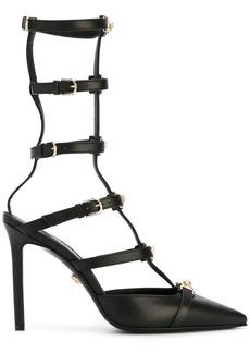 Versace 'Medusa Head' strap pumps