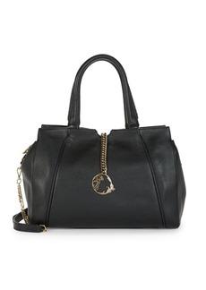 Versace Medusa Leather Satchel