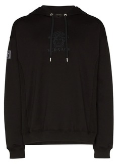 Versace Medusa logo cotton hoodie