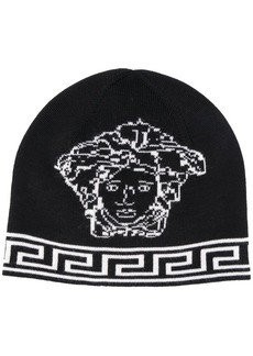 Versace Medusa logo knitted hat