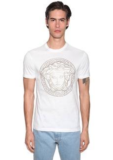 Versace Medusa Logo Studded T-shirt