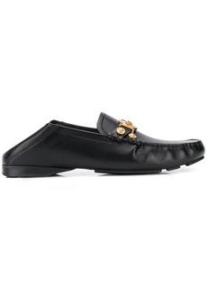 Versace Medusa medallion leather loafers