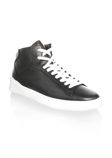 Versace Medusa Mid-Top Leather Sneakers