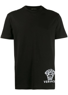 Versace Medusa motif embroidered T-shirt