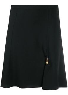 Versace Medusa pin A-line skirt
