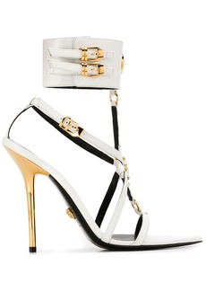 Versace medusa pointed toe sandals