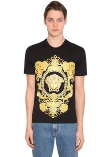Versace Medusa Print Cotton Jersey T-shirt