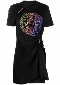 Versace Medusa-print Safety-Pin T-shirt dress