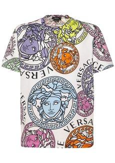 Versace Medusa Printed Cotton Crewneck T-shirt