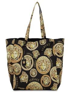 Versace Medusa Printed Nylon Tote Bag