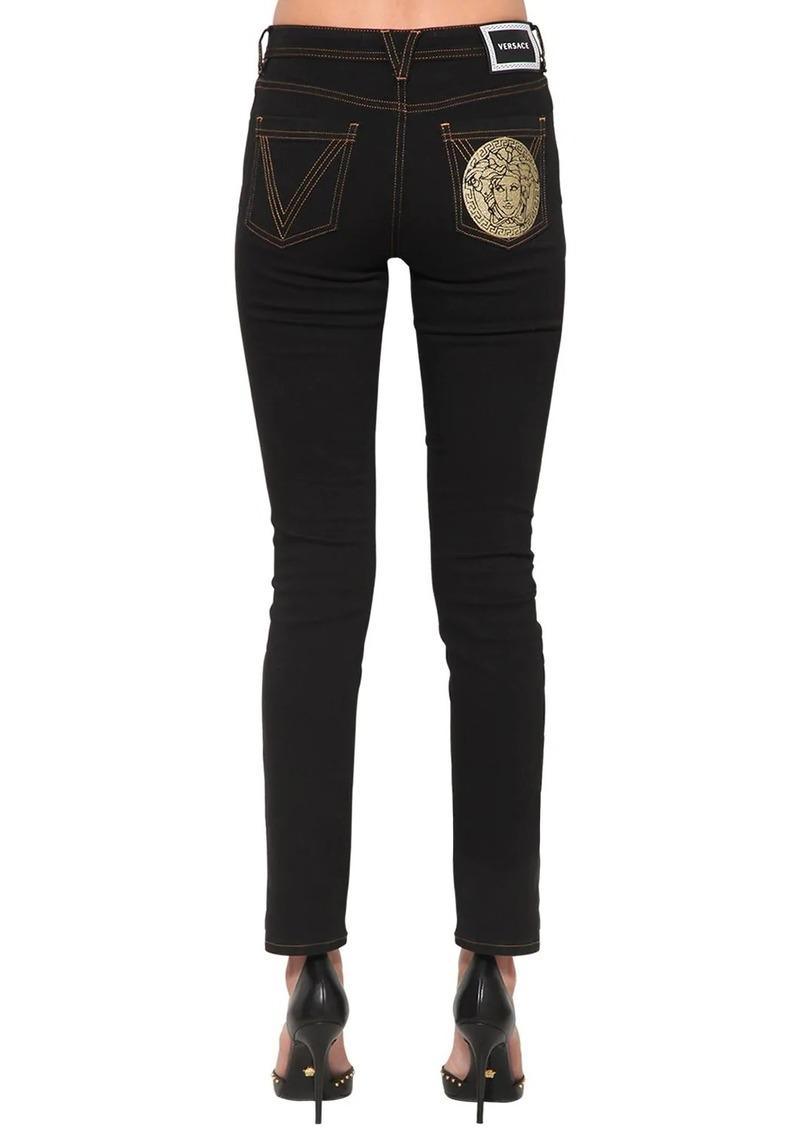 Versace Medusa Slim Cotton Denim Jeans