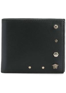 Versace Medusa studded bi-fold wallet