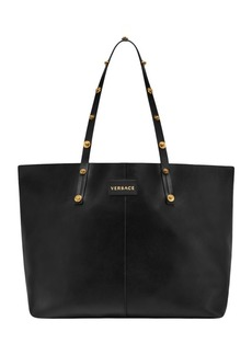 Versace Medusa Studded Leather Tote