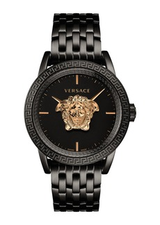 Versace Men's 43mm Palazzo Empire Watch  Black/Gold
