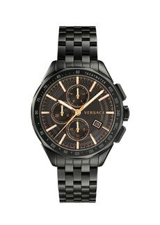 Versace Men's 44mm Glaze Chronograph Watch w/ Bracelet Strap  Black