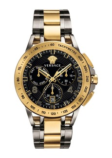 Versace Men's 45mm Sport Tech Chronograph Watch  Gold/Gray