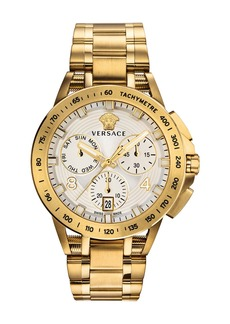 Versace Men's 45mm Sport Tech Chronograph Watch  Gold